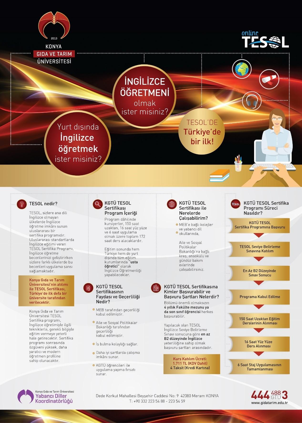 Registrations For Konya Food And Agriculture University Online Tesol
