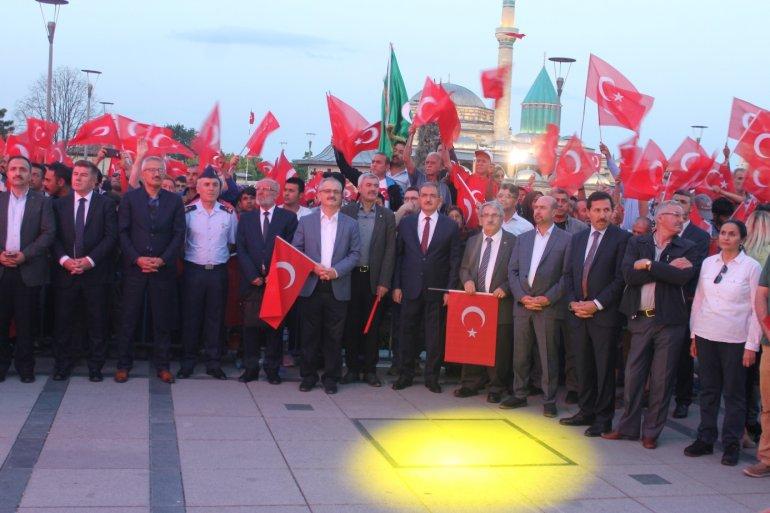 Rektörümüz Prof. Dr. Cumhur Çökmüş Konya Mevlana Meydanı'nda Düzenlenen 15 Temmuz Demokrasi ve Milli Birlik Günü etkinliğine katıldı