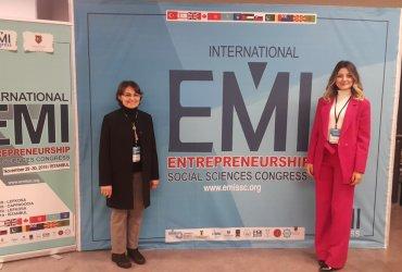 """Uluslararası Ticaret ve İşletmecilik Bölümü Araştırma Görevlimiz Merve Alagöz İstanbul'da düzenlenen """"4th International EMI Entrepreneurship and Social Sciences Congress"""" Etkinliğine Katıldı"""