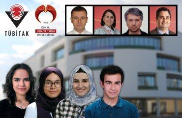 Biyomühendislik Bölümü Öğrencilerimiz Yağmur Nur Çetinkaya, Aybüke Büşra Özer, Gülşah Yıldız ve Ekonomi Bölümü Öğrencimiz Ali Fuat Tecim'in Projeleri TÜBİTAK 2209 Üniversite Öğrencileri Araştırma Projeleri Kapsamında Desteklenmeye Hak Kazandı