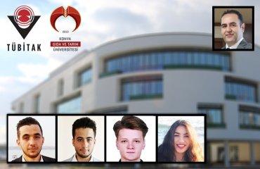 Öğrencilerimiz İrfan Çözge, Mustafa Küçükdemirci, Rıdvan İnal ve Rida Doğrul'un Projeleri TÜBİTAK 2209 Üniversite Öğrencileri Araştırma Projeleri Kapsamında Desteklenmeye Hak Kazandı