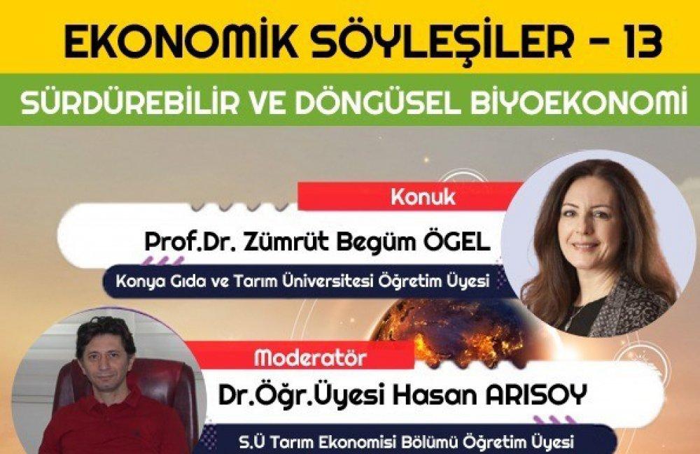 """Gıda Mühendisliği Bölüm Başkanımız, Cumhurbaşkanlığı Sağlık ve Gıda Politikaları Kurulu Üyesi Prof. Dr. Zümrüt Begüm Ögel Selçuk Üniversitesi'nde Düzenlenen """"Ekonomik Söyleşiler"""" Etkinliğine Katıldı"""