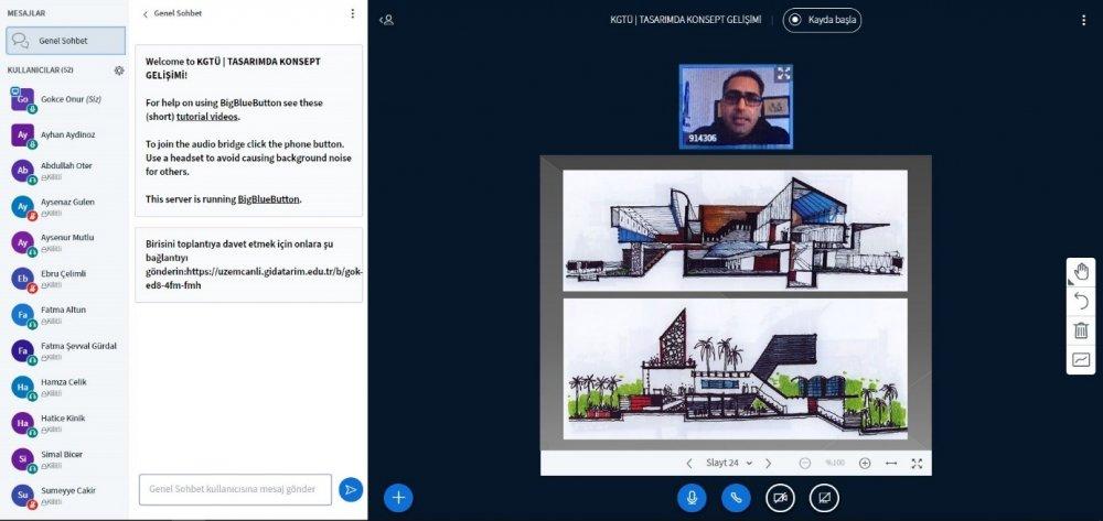 """İç Mimarlık Bölümümüz Tarafından Düzenlenen """"Tasarımda Konsept Gelişimi"""" İsimli Online Etkinlik İle İç Mimarlık ve Mimarlık Öğrencileri Bir Araya Geldi"""