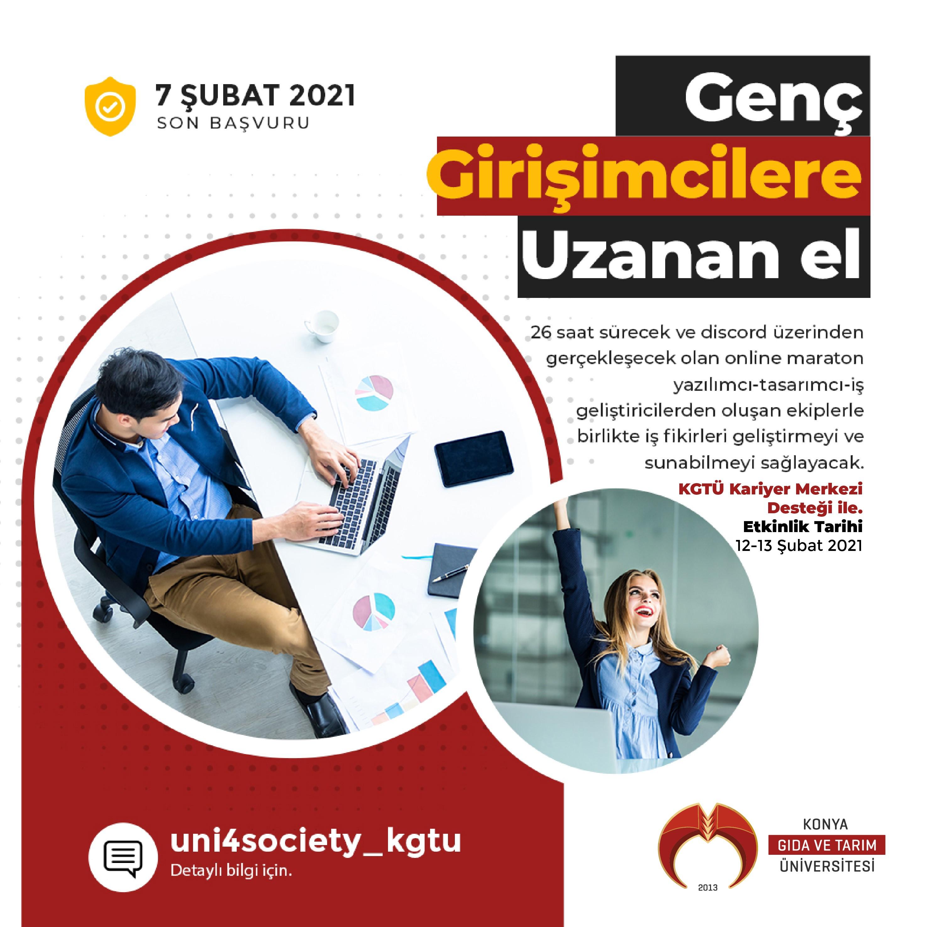 Konya Gıda ve Tarım Üniversitesi Uni4Society Organizasyonu Başvuruları Başlamıştır