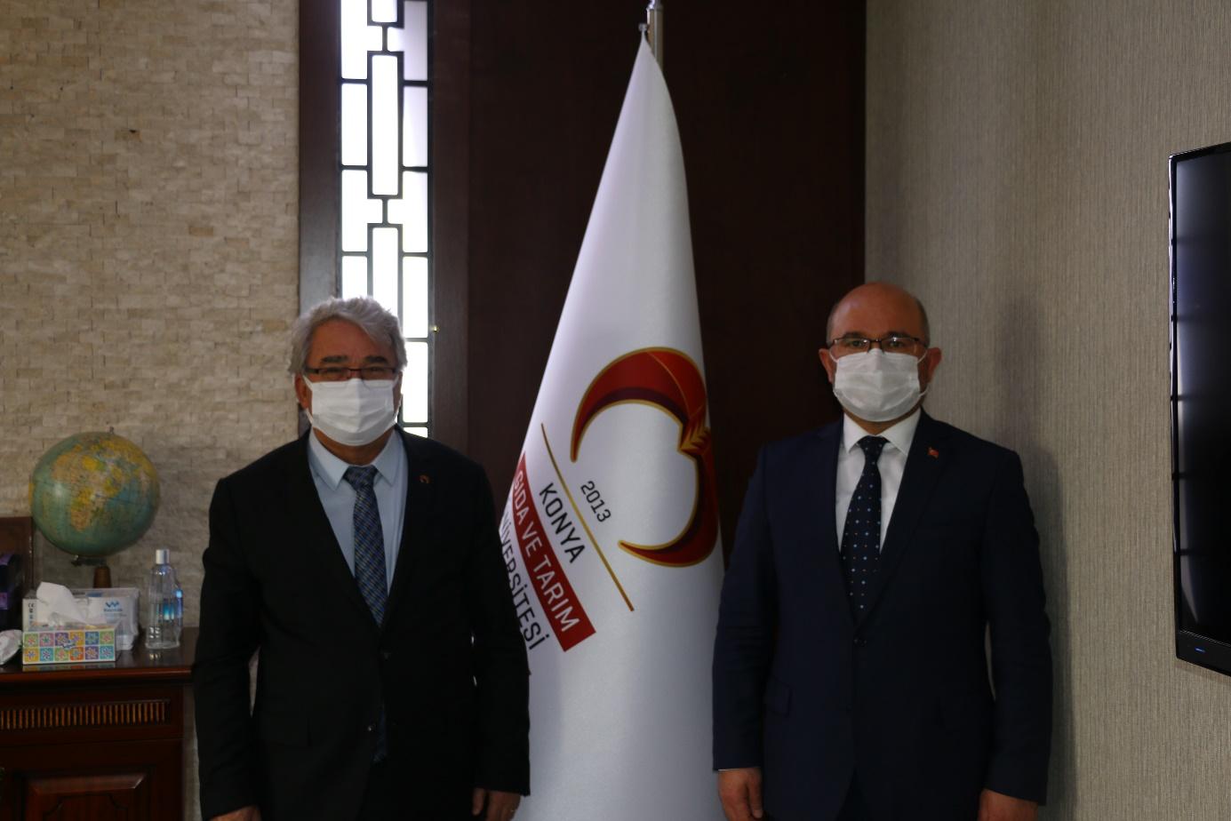 KOP Başkanı Mahmut Sami Şahin'den Rektörümüz Prof. Dr. Cumhur Çökmüş'e Ziyaret