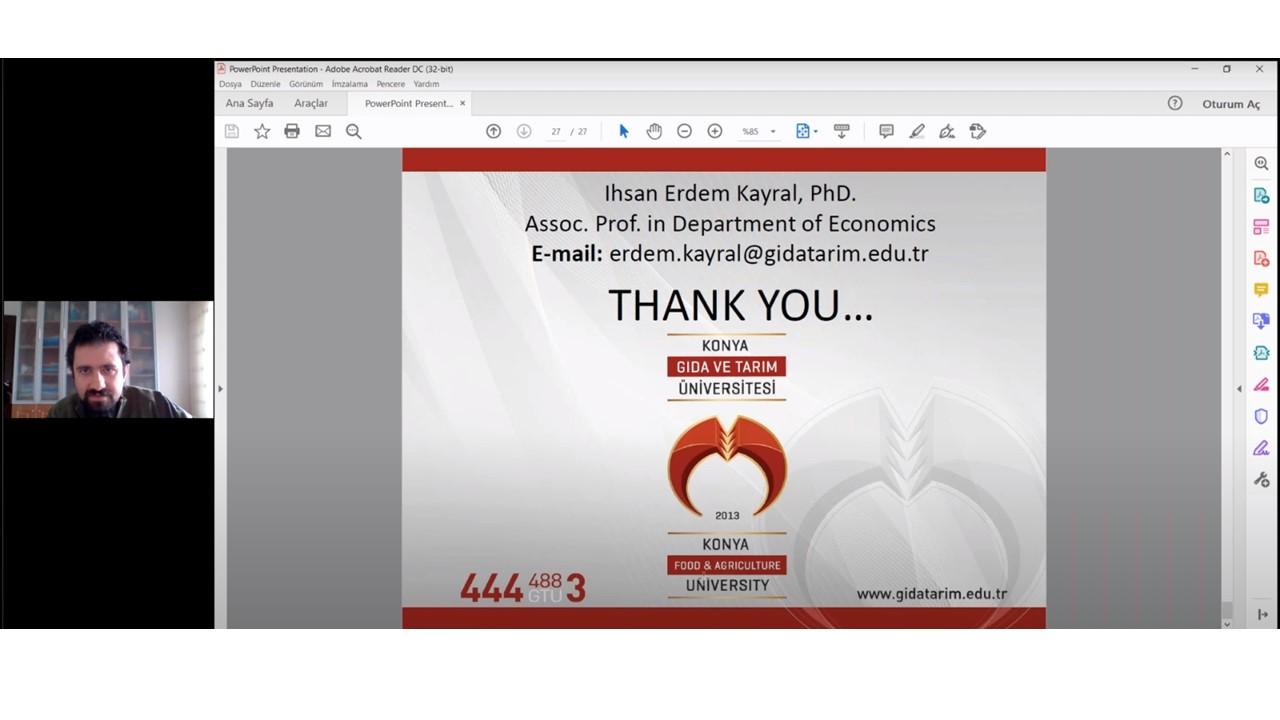 Ekonomi Bölüm Başkanımız Doç. Dr. İhsan Erdem Kayral Davetli Konuşmacı Olarak Clinical and Medical Microbiology Konferansına Katılarak Açılış Sunumunu Gerçekleştirdi