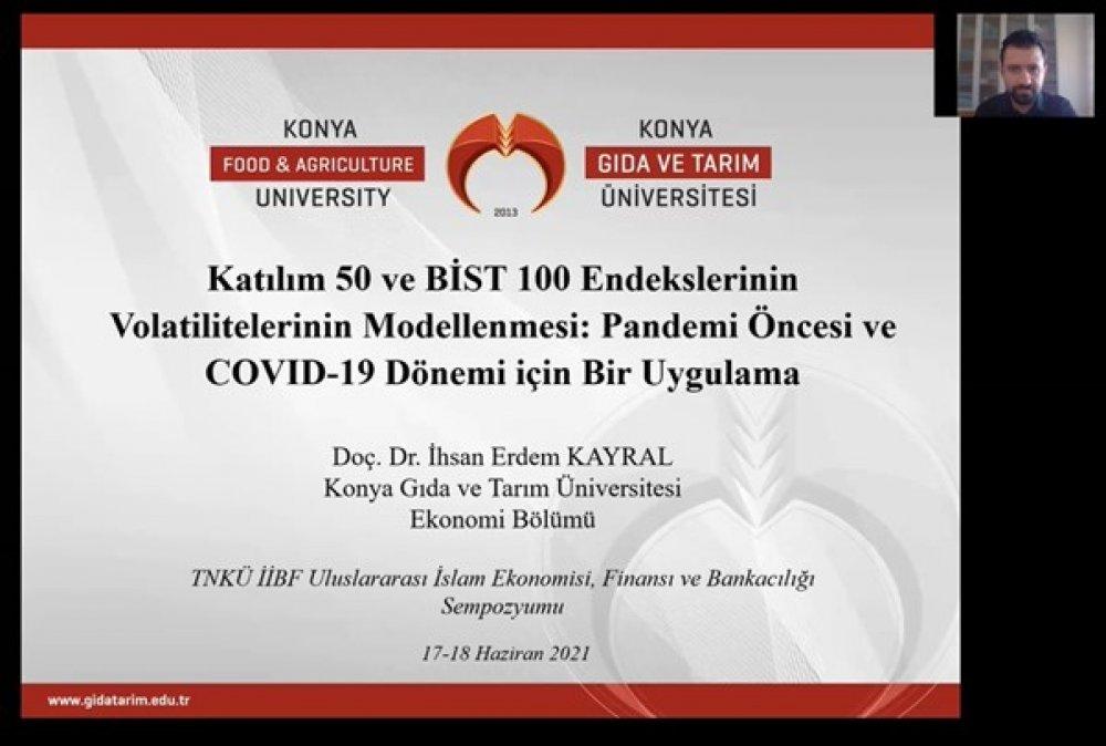 Ekonomi Bölüm Başkanımız Doç. Dr. İhsan Erdem Kayral Tekirdağ Namık Kemal Üniversitesi Tarafından Düzenlenen Uluslararası İslam Ekonomisi, Finansı ve Bankacılığı Sempozyumu'na Katıldı