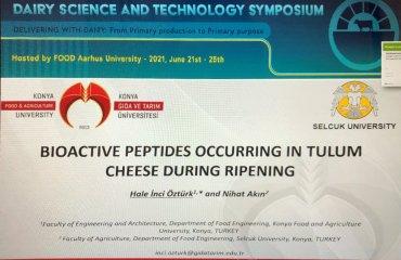 """Gıda Mühendisliği Bölümü Öğretim Üyemiz Dr. Öğr. Üyesi Hale İnci Öztürk Aarhus Üniversitesi tarafından düzenlenen """"Dairy Science and Technology Symposium 2021"""" Etkinliğine Katıldı"""